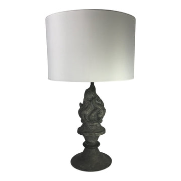 French Zinc Table Lamp