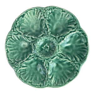 French Gien Turquoise Oyster Plate