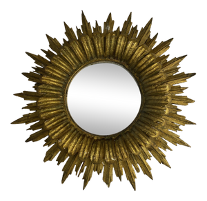 French Gilt Starburst With Convex Mirror