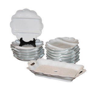 French Limoges Asparagus Serving Set-12 plates/platter