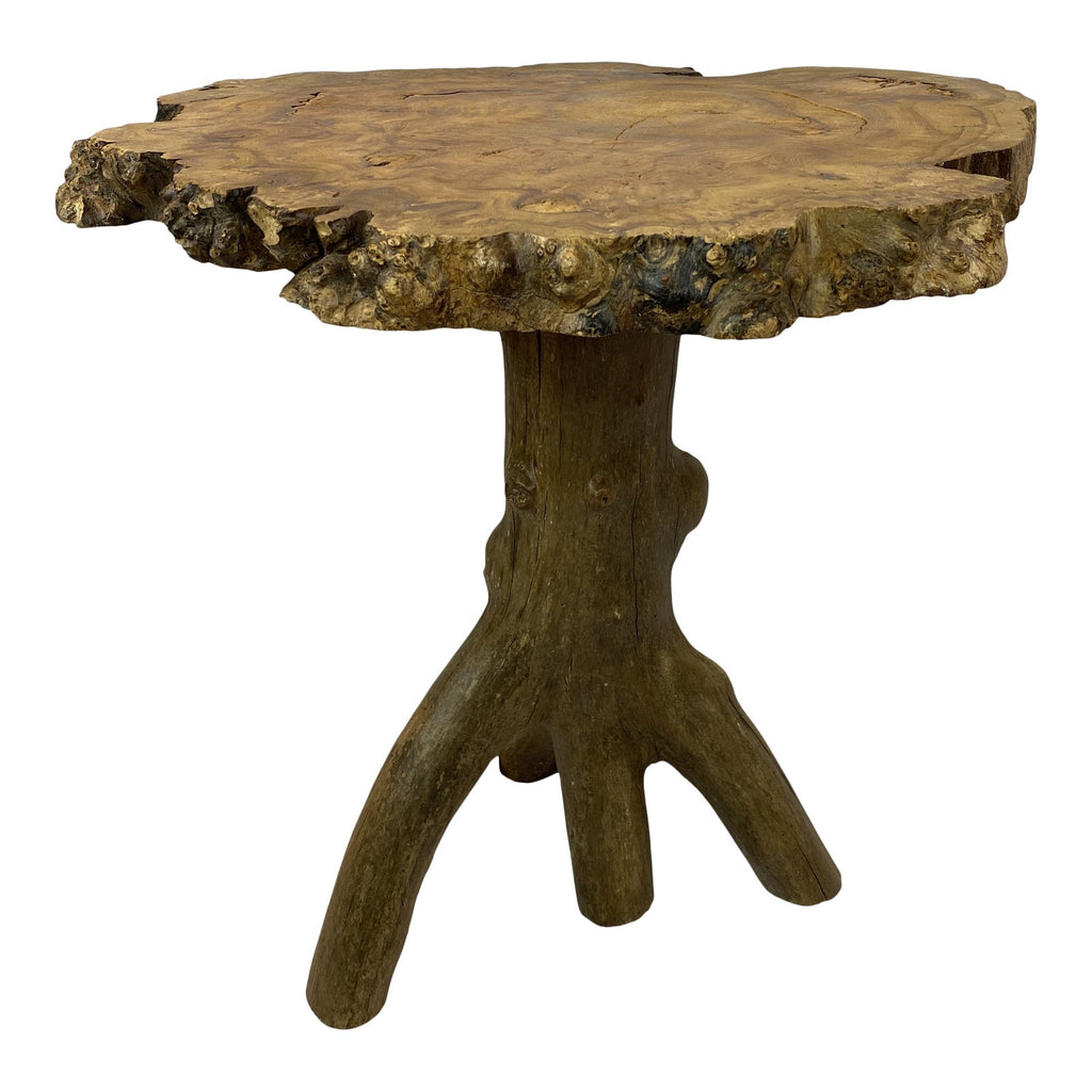 French Live Edge Side Table