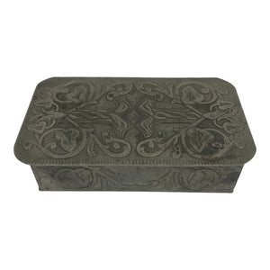 French Pewter Art Nouveau Box