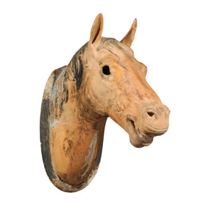 French Terracotta Horse Head