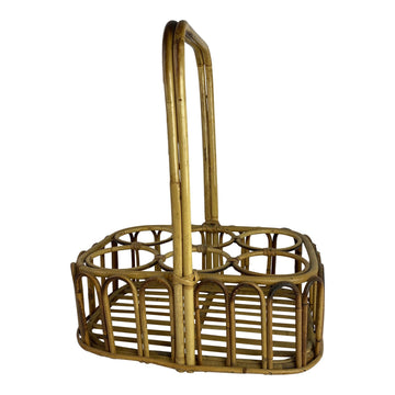 French Bamboo Wine Carrier