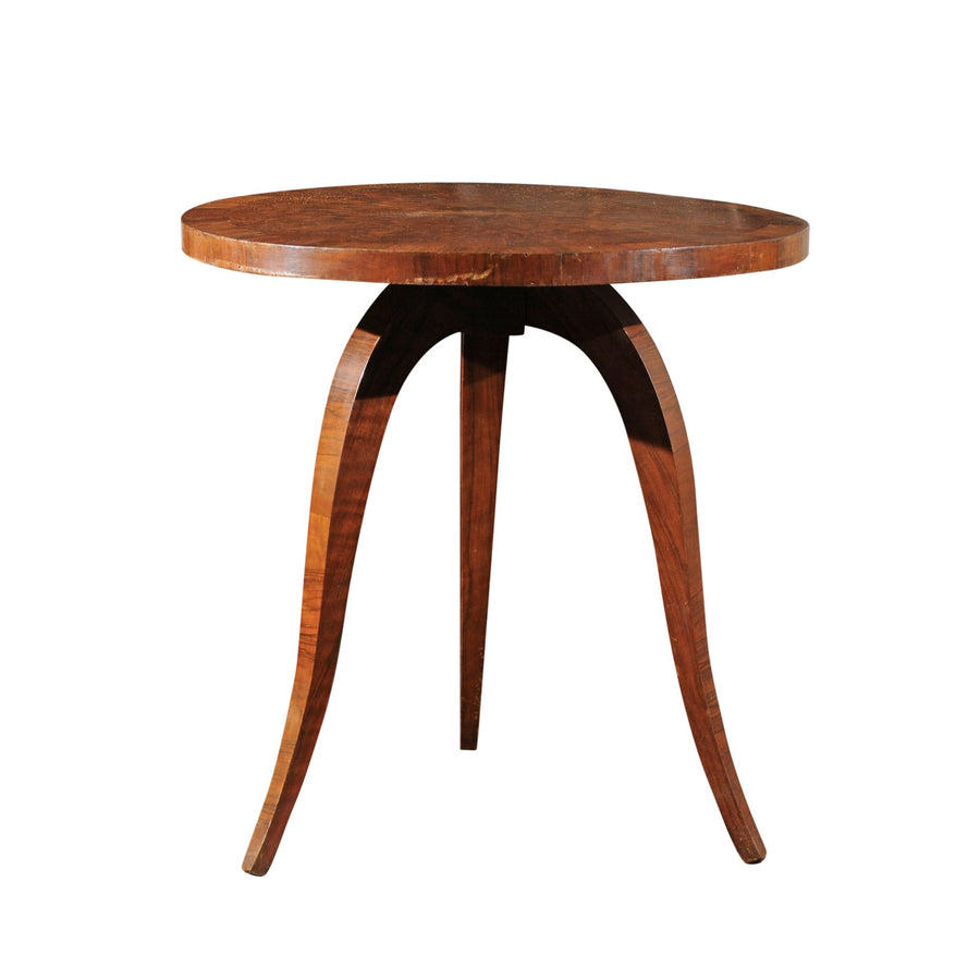 French Burled Wood Mid-Century Table