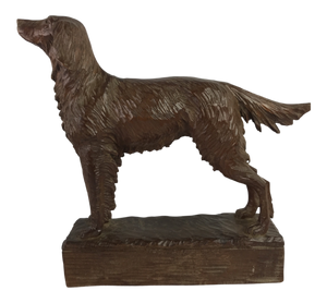 French Carved Wood Retriever