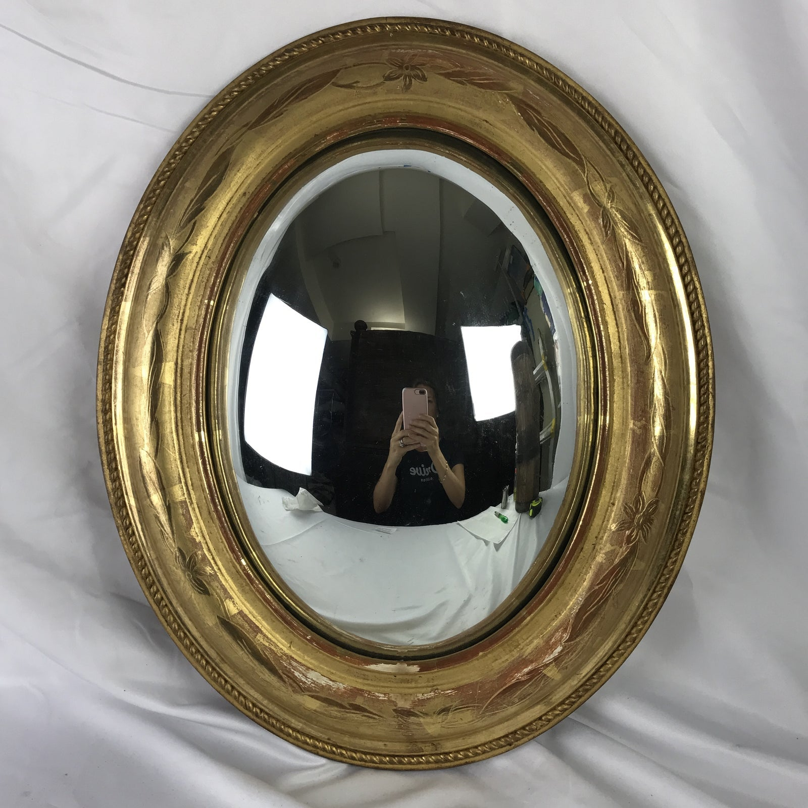 French Louis Philippe Oval Convex Mirror