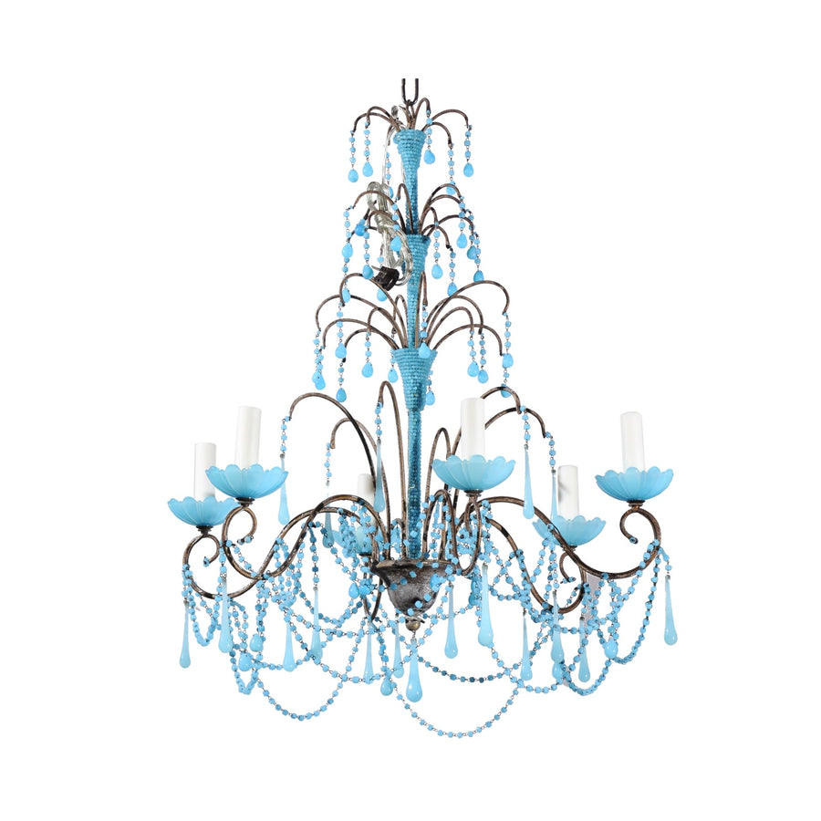 French Turquoise Chandelier