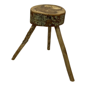 Irish Cherry Live-Edge Stool/Cocktail table (3 available)