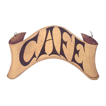 Large French Hanging Cafe Sign