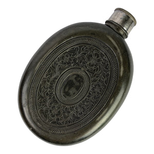 Late 19th Century English Pewter Flask