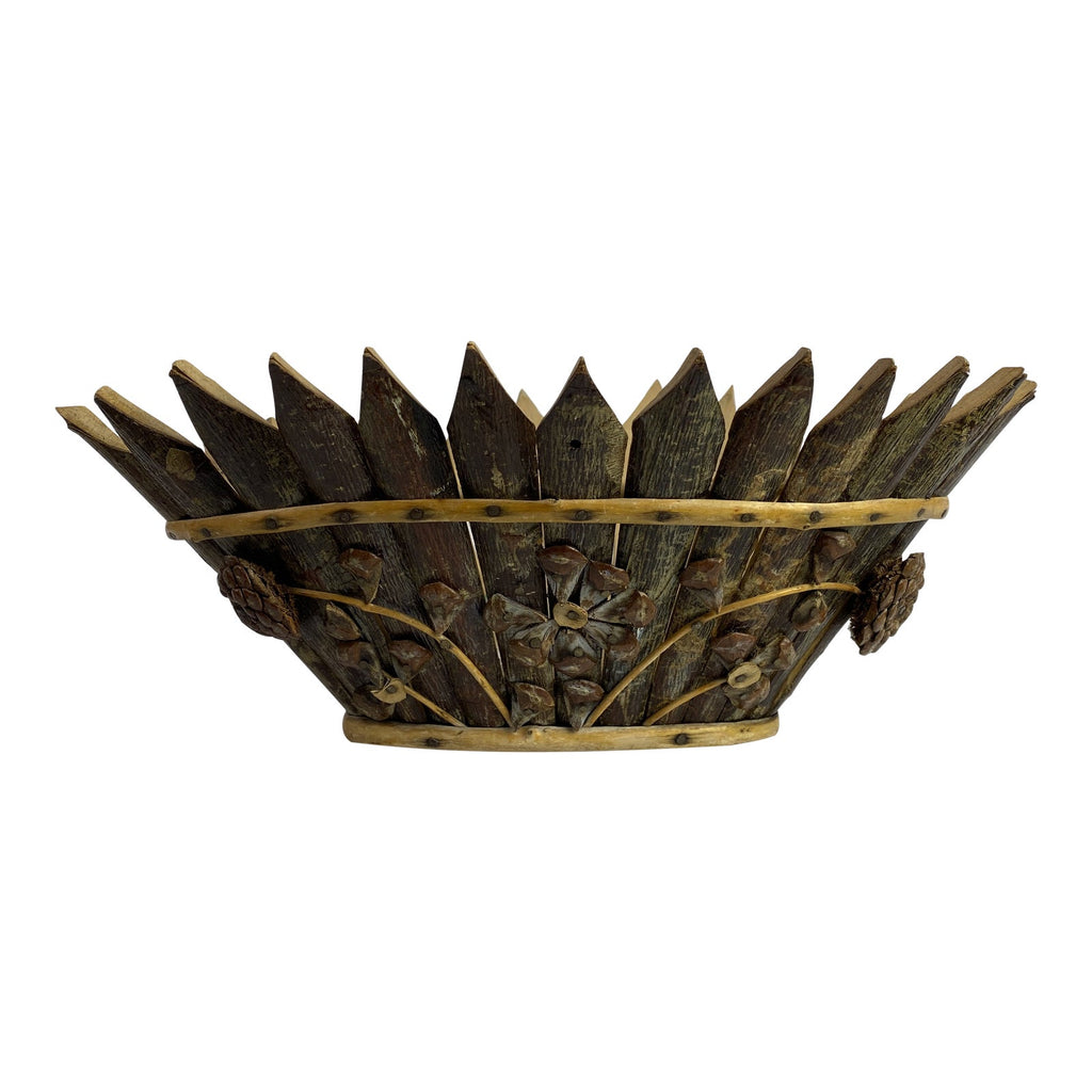 Late 19th Century French Tramp Art Basket
