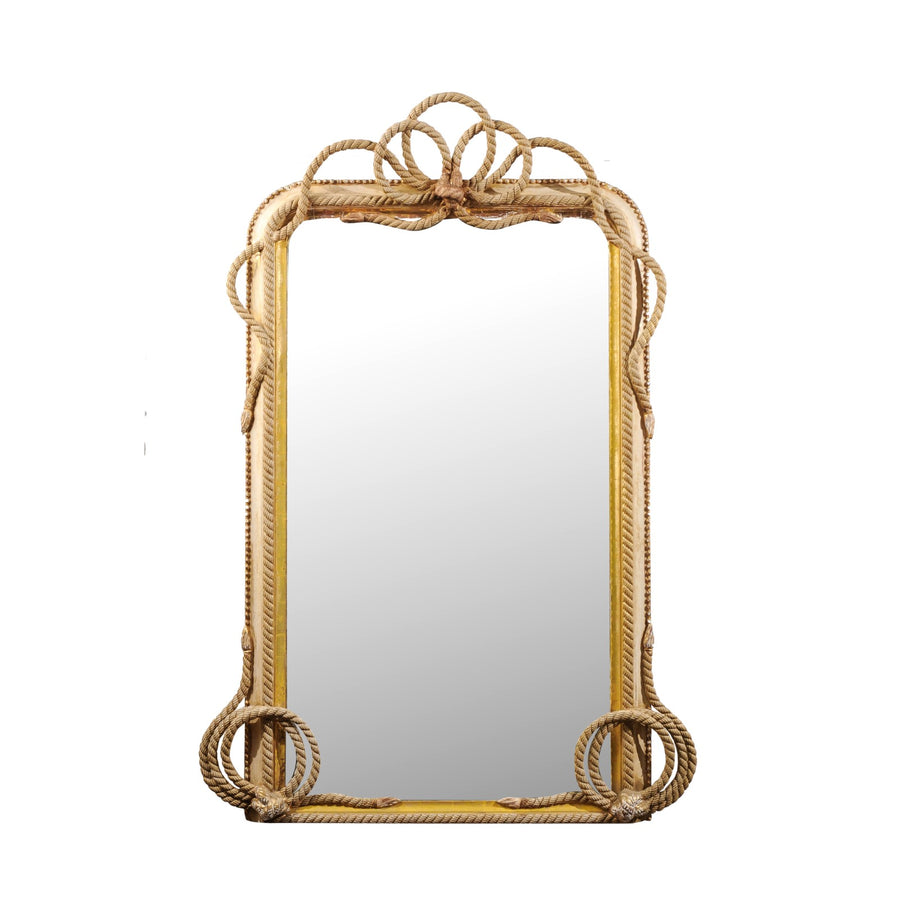 Louis Philippe Carved Rope Mirror