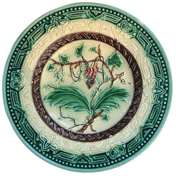 Majolica Floral Plate