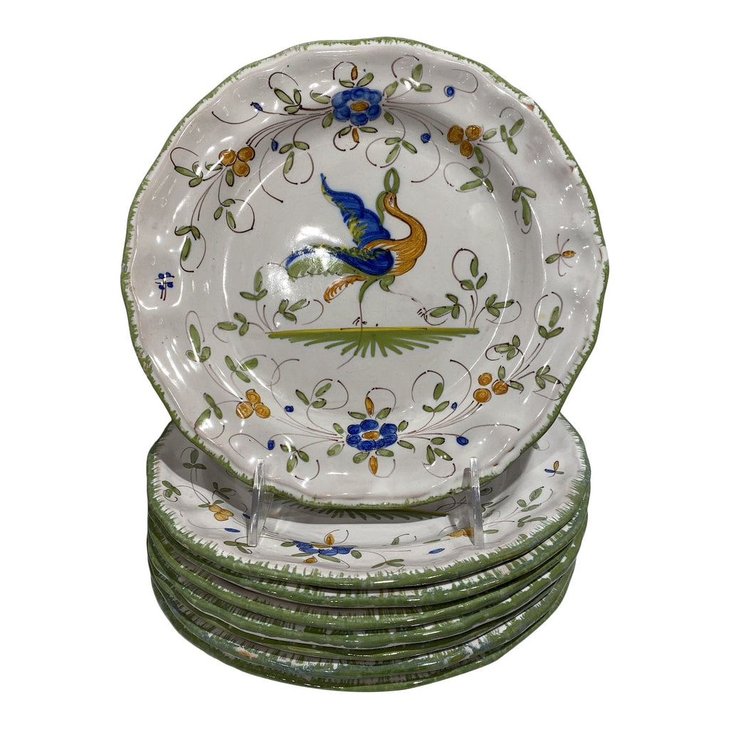 Martres-Tolosane Moustier Floral Faience Bread Plate (many available)