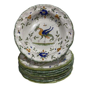 Martres-Tolosane Moustier Floral Faience Soup Bowls (many available)