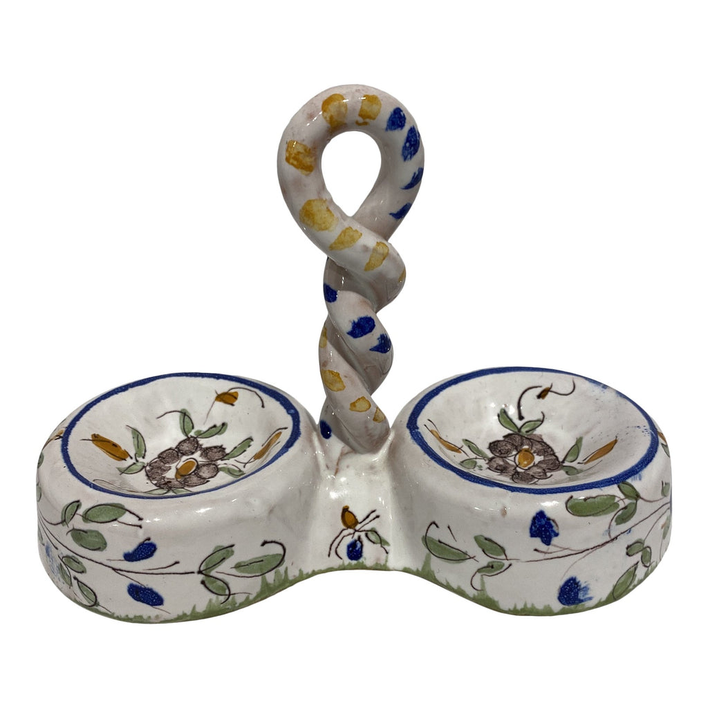 Martres-Tolosane Moustier Floral Salt and Pepper Cellar