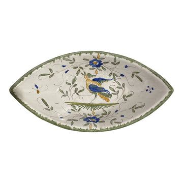 Martres-Tolosane Moustier Floral Serving Dish