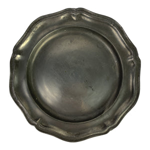 Mid 19th Century English Pewter Plate