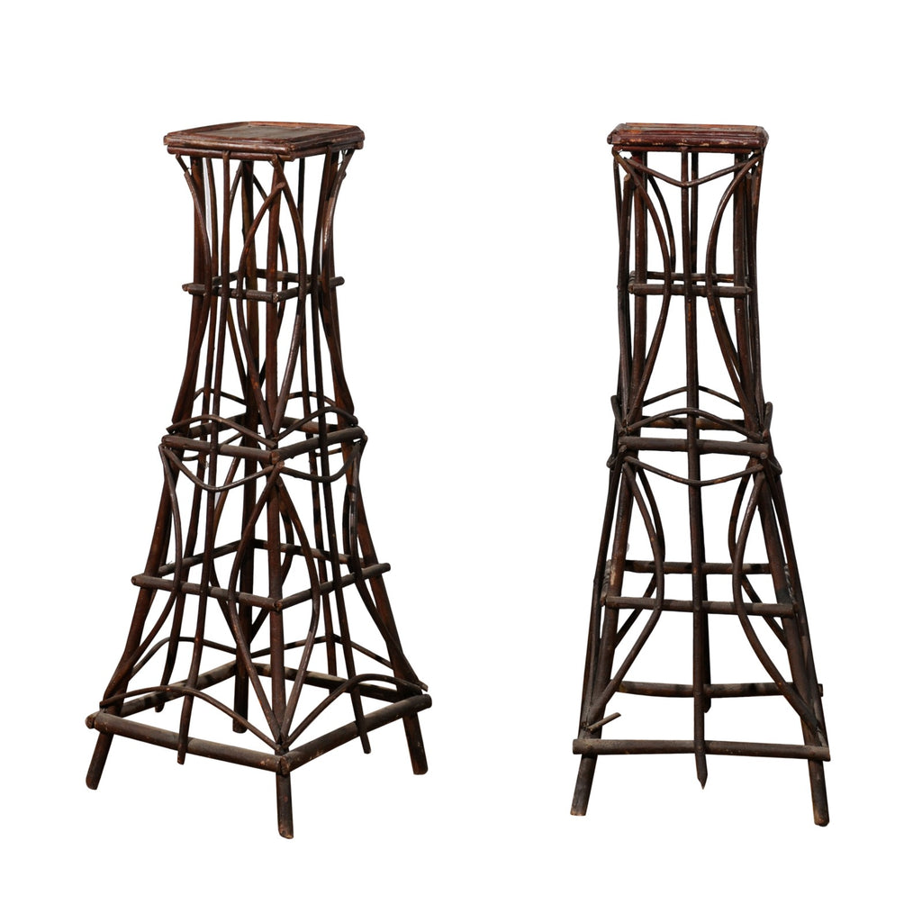 Pair of French Twig Stands