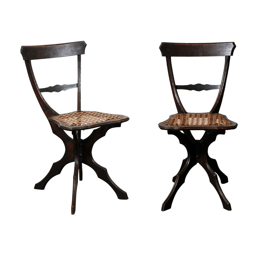 Pair of French Cane Chairs
