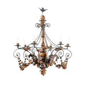 Pair of Late 19th C Tuscan Chandeliers