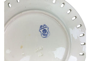 Swedish Creamware Basketweave Plate