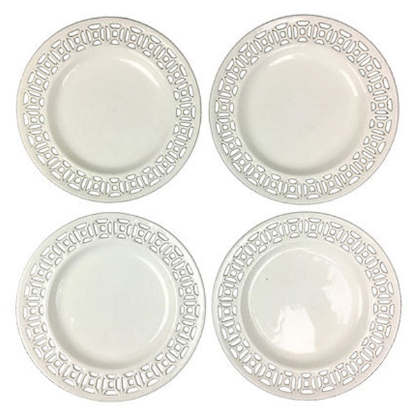 Swedish Reticulated Creamware, Set of 4
