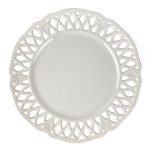 Swedish Reticulated White Plate