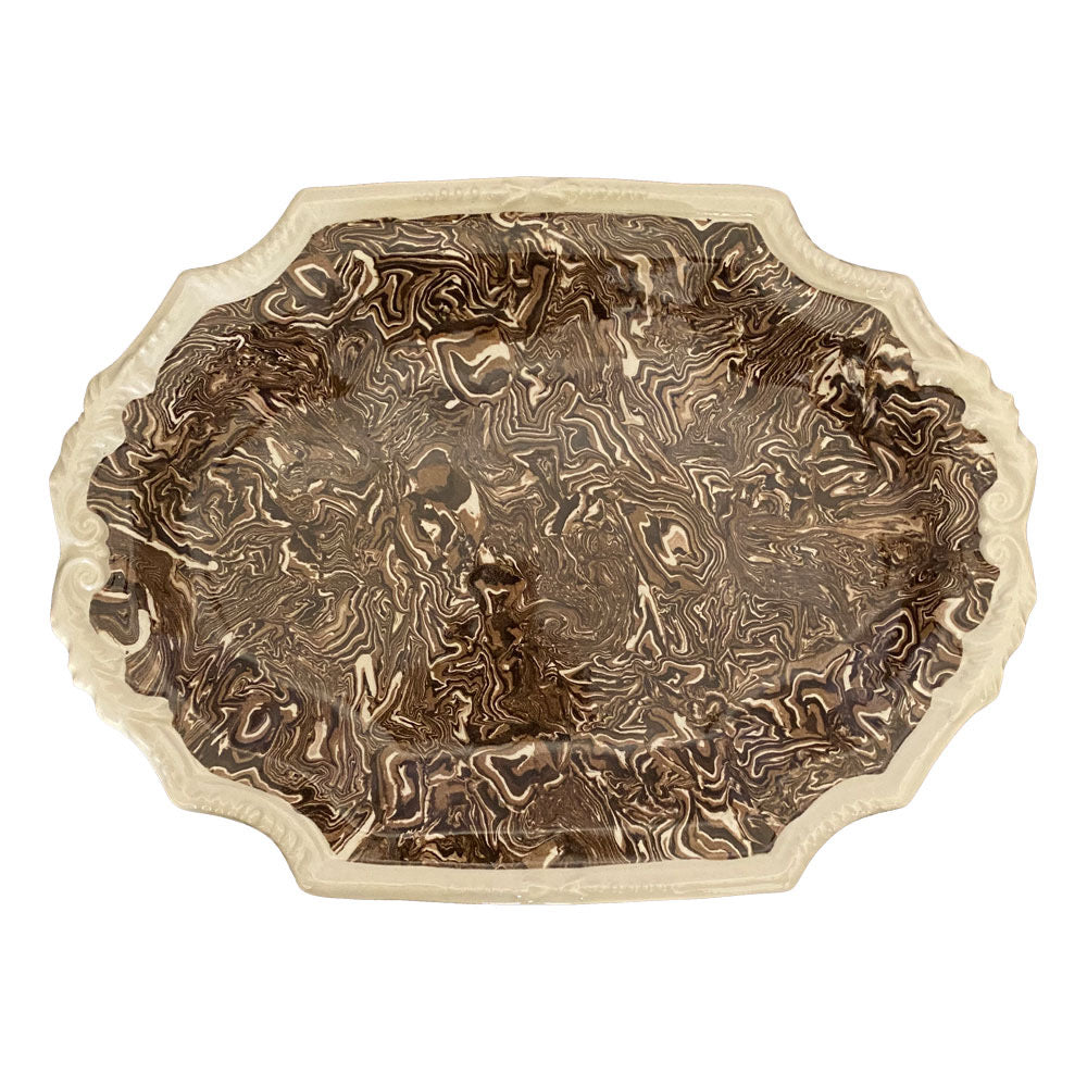 French Aptware Brown Platter (2 available)
