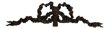Black Forest Carved Bow Cornice (2 available)