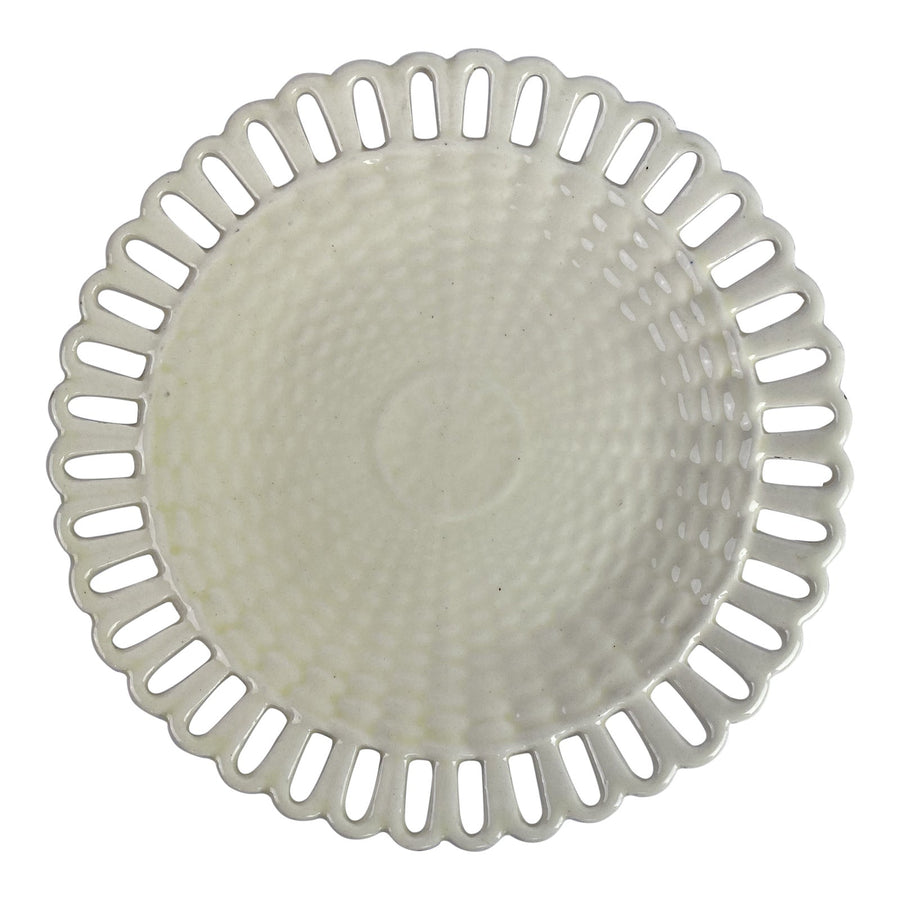 Creamware Basketweave Reticulated Plate