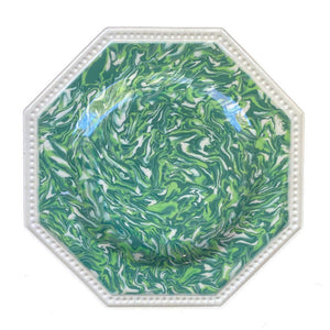 French Aptware Green Plate