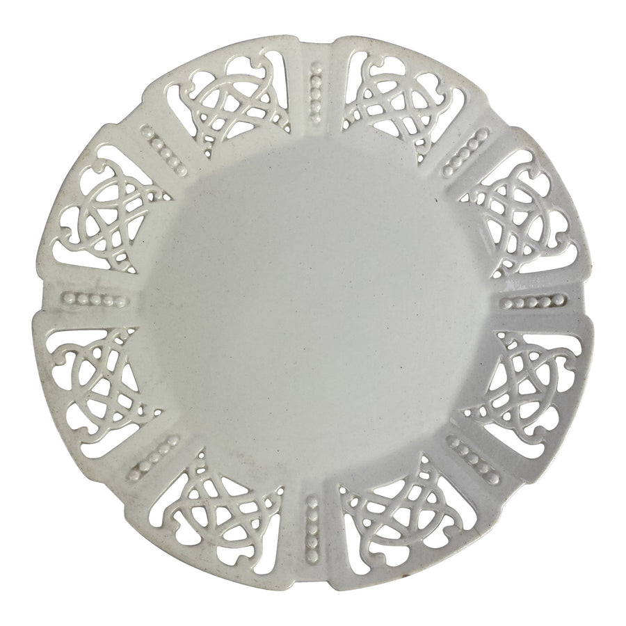 Reticulated Creamware Plate