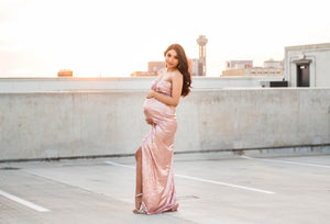 Cathrena Sequins Maternity Gown - Design by C Maternity