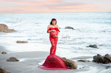 Load image into Gallery viewer, Kira Slim Fit Sheer Lace Maternity Gown , Boudoir Dress - Design by C Maternity