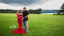 Load image into Gallery viewer, Amy  Lace Mermaid Maternity Dress