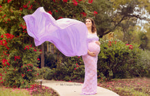 Load image into Gallery viewer, Shevy Sheer Maternity Dress for Photoshoot - Design by C Maternity