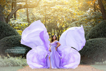 Load image into Gallery viewer, Lilac Amy Sheer Chiffon Tossable Maternity Dress - Design by C Maternity