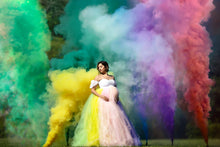 Load image into Gallery viewer, Rainbow Tulle Maternity Dress