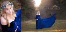 Load image into Gallery viewer, Mimi Velvet Bohemian Maternity Gown , Long off Shoulder Sleeves - Design by C Maternity