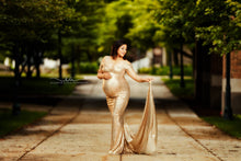 Load image into Gallery viewer, Selena Sequins Maternity Gown - Design by C Maternity