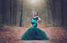 Load image into Gallery viewer, Pam Bottle Green Sequins Tulle Slim Fit Maternity Dress - Design by C Maternity