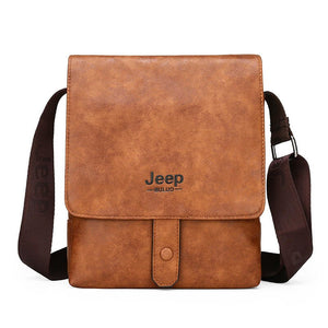 JEEP BULUO Men's Messenger Bag Luxury Brands Men Leather Shoulder Crossbody Bags For iPad Business office Work Tote New Fashion