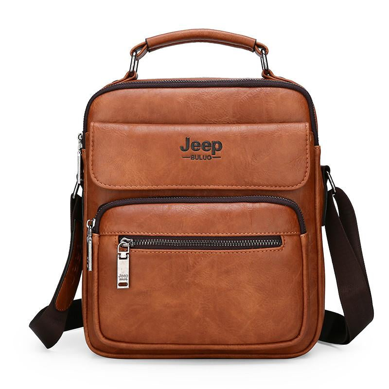 JEEP BULUO Big Size Men's Handbags Famous Brand Man Leather Crossbody Shoulder Messenger Bag For 9.7 inch iPad Casual Business