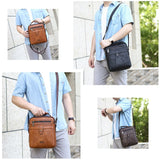 JEEP BULUO Big Size Men Messenger Bags New Classic Crossbody Shoulder Bag For 9.7' iPad High Quality Men's Leather Tote Handbag