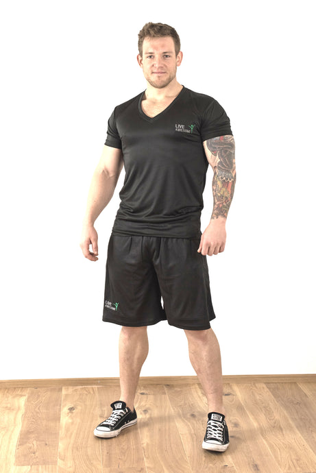 Live Awesome Shorts unisex schwarz