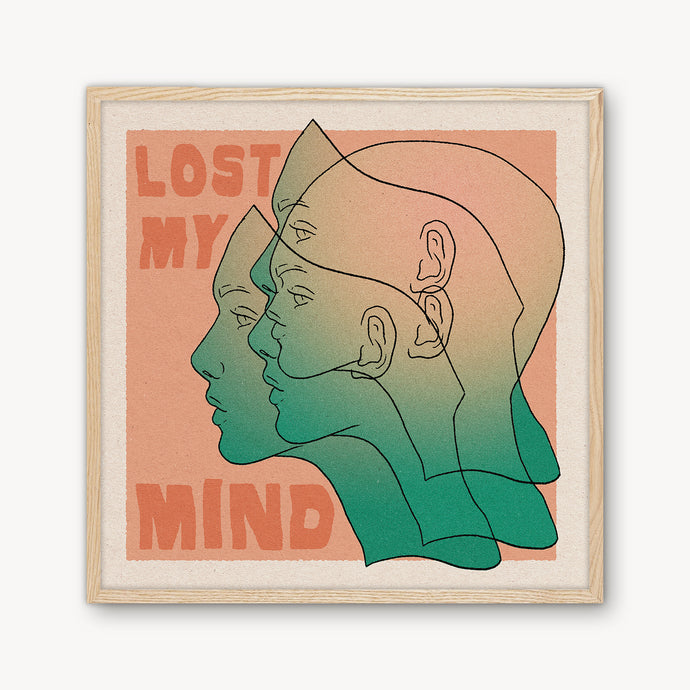 'Lost My Mind' Framed Print - cai & jo
