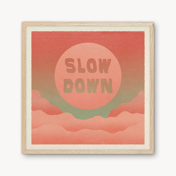 'Slow Down' Framed Print - cai & jo