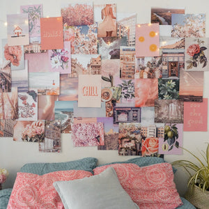 Peachy Pink Collage Kit - Collage Wall Decor